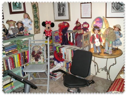 Table with dolls is now in this part of the room