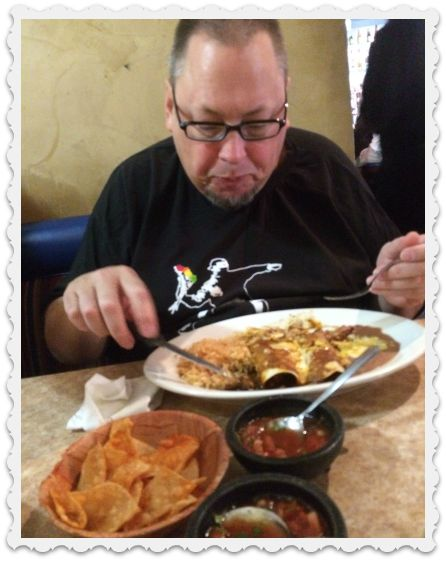 craig and delicious meal - sept 12