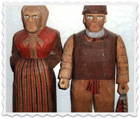 handcarved scary people