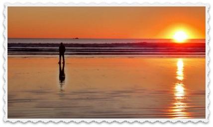 Chris on beach in nov 2015- sunset