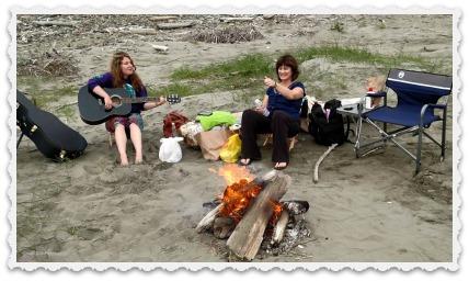 Kerrie & Jessica on the beach