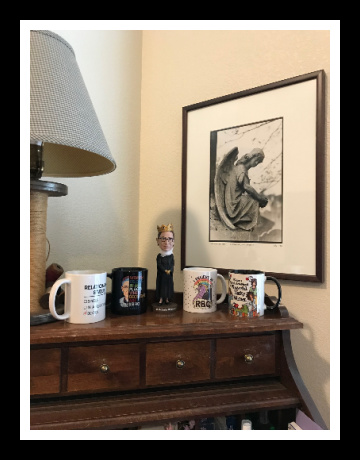 desk with rbg stuff